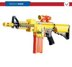 Plastic toy air soft foam bullets dart gun for kids - $15.99