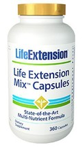 2 PACK Life Extension Mix Capsules NEW FORMULA! 60 Day Supply Multivitamin - $80.00