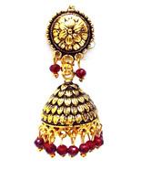 Golden Oxidized Earrings Jhumka Jhumki Jewelry Bollywood Drop Dangle Lon... - $5.93