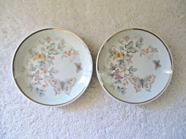 Vintage Set Of 2 1979 Avon Fine Porcelain 22 K Gold Trim Collector Plates  - $14.99