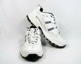 Skechers Sport Men's Sneakers Shoes Lace Up White/Gray Leather Sz 13 Ext... - $42.56