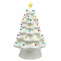 "NEW Mr. Christmas 16"" LED Retro Nostalgic Ceramic Christmas Tree WHITE L... - $38.69"