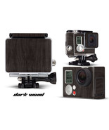 Skin Stickers for GoPro Hero 3+ Camera & Case Decal HERO3+ Go Pro DARK WOOD - $9.85