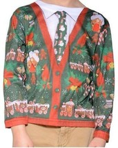 Faux Real Ugly Christmas Sweater Toddler Santa Holiday Xmas Long Sleeve ... - $24.99