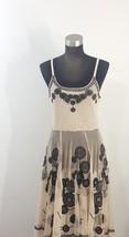Biya Johnny Was Nude Mesh Black Embroidered Boho Chic Dress Size Medium  - $138.00