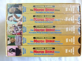 lot of 5 VHS tapes The Milton Berle Show SEE PICS Bin  #13 - $37.36