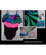 Island Native Lycra Swimsuit NWT One Piece Multi-Color SZ 14 Made USA - $13.99