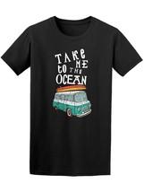 Take Me To The Ocean Vintage Van Men's Tee -Image by Shutterstock - $14.84+