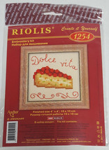 RIOLIS Cherry Cake Pie Dessert Embroidery Cross Stitch Kit #1254 NEW Dol... - $9.99
