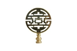 """Brass Round Double Happiness Lamp Finial 3.5"""" - $18.80"""