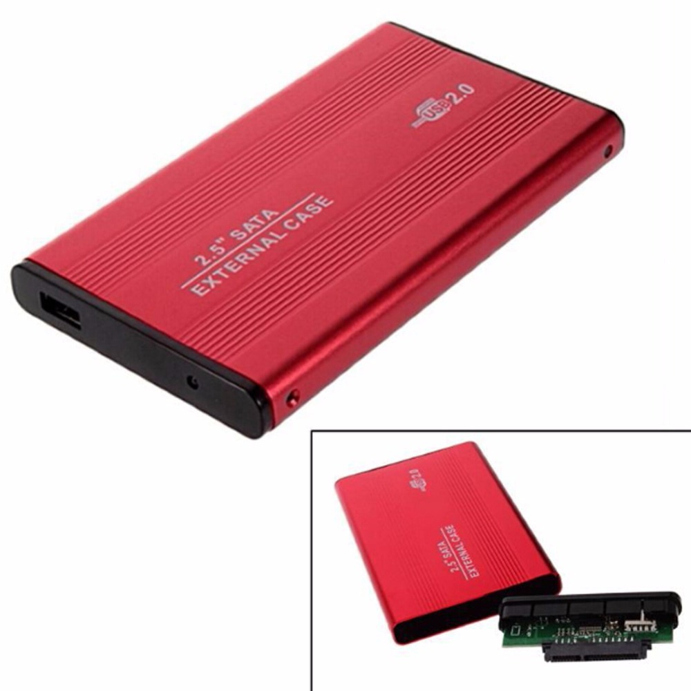 2.5 Inch HDD Case Sata To USB 2.0 Adapter SSD HD Hard Drive Disk External HDD Bo