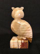 ALABASTER OWL Sculpture, Hand Carved, Mid Century, VINTAGE image 4