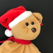 Vintage Christmas Beanie Baby Teddy Bear ty 1997 Retired Babies Santa Hat - $10.25