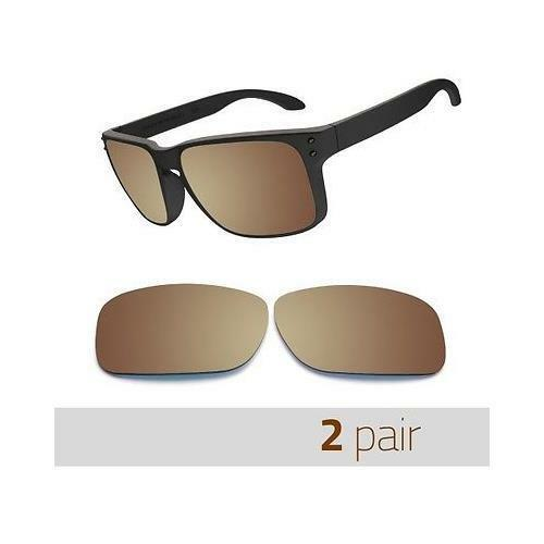 2 pairs Optico Polarized Replacement Lenses for Oakley Holbrook Sunglasses Brown