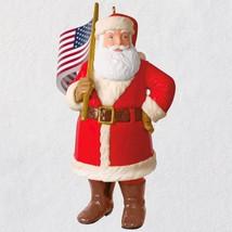 Saluting Old Glory Santa 2018 Hallmark Ornament - $22.76