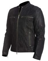 Mens Antique Motorcycle Cafe Racer Rider Black Biker Leather Jacket image 3