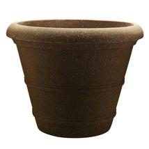 "20"" Veranda Poly-Resin Planter Granite Brown Classic Innovative And Attr... - $54.42 CAD"