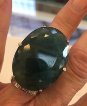 New Custom Huge Rare blue 97.5 ct Grandidierite, Diamond 14k, 18k gold r... - $45,999.00