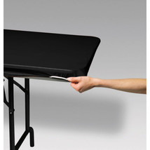 Stay Put Plastic Tablecover Black 29 x 72 Banquet StayPut Wind Proof - $7.99
