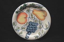 "Frutteto by Tabletops Unlimited 10"" Dinner Plate Rim Shape Fruit Dark Bl... - $18.80"