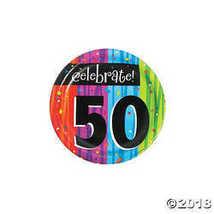 8-Count Round Paper Dessert Plates, Celebrate 50, Milestone Celebrations - $2.61