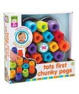 TOTS FIRST CHUNKY PEGS  - $17.99