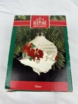 Hallmark Keepsake Ornament SISTER 1990 Sister Adds Joy to Christmas - $9.89
