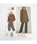 Vogue V2991 Sandra Betzina Jacket Coat Plus sizes Pattern Uncut - $14.99
