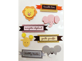 Dimensional Baby Animals and Sentiments Stickers