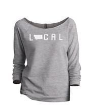 Thread Tank Local Montana State Women's Slouchy 3/4 Sleeves Raglan Sweatshirt Sp - $24.99+