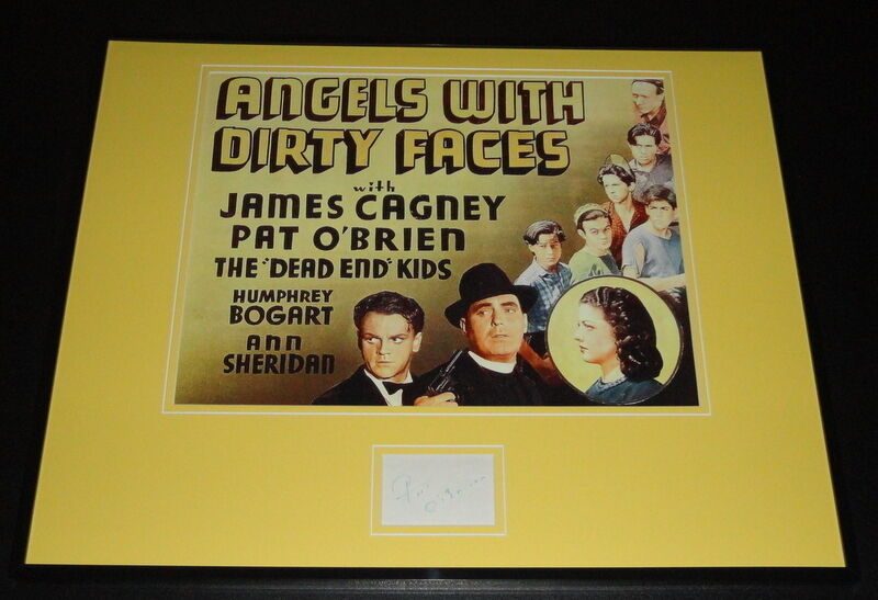 Pat O'Brien Signed Framed 16x20 Angels With Dirty Faces Poster Display
