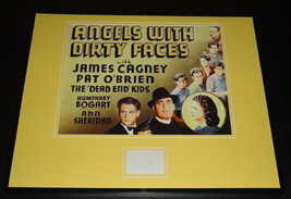 Pat O'Brien Signed Framed 16x20 Angels With Dirty Faces Poster Display image 1