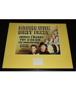 Pat O'Brien Signed Framed 16x20 Angels With Dirty Faces Poster Display - $168.29