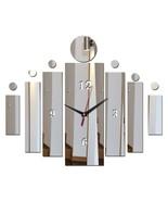 Unique Mirror Surface Rectangle DIY Wall Clock Modern Acrylic Decor Styl... - $16.79