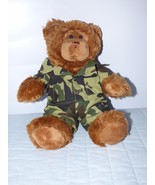 """Build a Bear Stuffed Bear wearing a Camouflage Outfit 16"""" Tall  BABW - $11.39"""