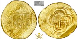 MEXICO 1714 DATED 8 ESCUDOS 1715 FLEET NGC 61 PIRATE GOLD COINS SHIPWREC... - $18,950.00