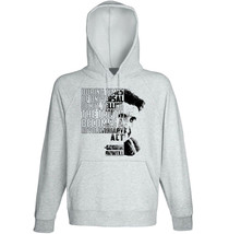 George Orwell -Telling The Truth - New Cotton Grey Hoodie - $32.92