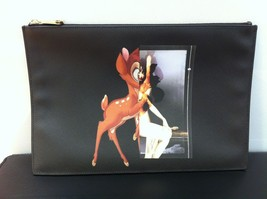 GIVENCHY x Bambi Clutch bag black Popular Bambi pattern case Disney FS - $1,265.22