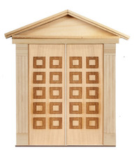 DOLLHOUSE MINIATURE 1:12 SCALE 10-RAISED PANEL DOUBLE DOOR #AM2321DD - $39.59