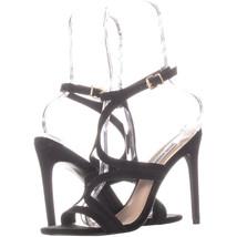 Steve Madden Sidney Ankle Strap Heeled Sandals, Black 216, Black, 7.5 US - $25.91