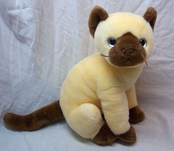 "TY Beanie Buddy SOFT SIAMESE CAT 10"" Plush STUFFED ANIMAL Toy 2002 - $19.80"