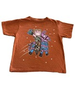 Fortnite Boys Orange Jonesy Llama Pinata Short Sleeve Shirt Small 6-7 - $9.28