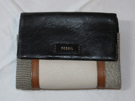 Fossil SL7468191 Ellis Multi Black Patchwork multifunction wallet leather NWT*^ image 1