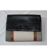 Fossil SL7468191 Ellis Multi Black Patchwork multifunction wallet leather NWT*^ - $40.18