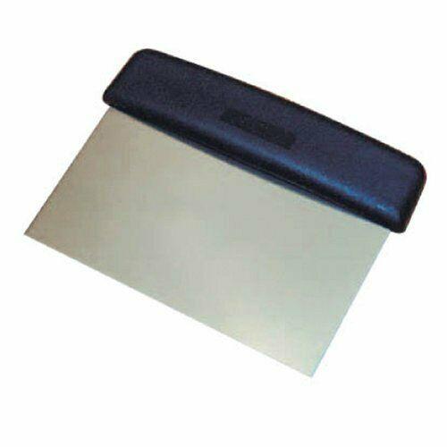 Winware Stainless Steel Dough Scraper with Plastic Handle