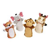Melissa & Doug Zoo Friends Hand Puppets, Puppet Sets, Elephant, Giraffe, Tiger,  - $21.90