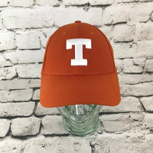 Nike T Texas Mens One Sz Hat Orange Adjustable Dri Fit Baseball Cap