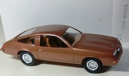 AMT 1979 CHEVROLET CHEVY MONZA 2+2 DEALER CAR PROMO CAMEL BROWN ORIGINAL... - $26.28