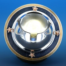 Art Deco 1939 Revere Saturn Syle Nickel Plated Brass & Copper Ash Tray Receiver