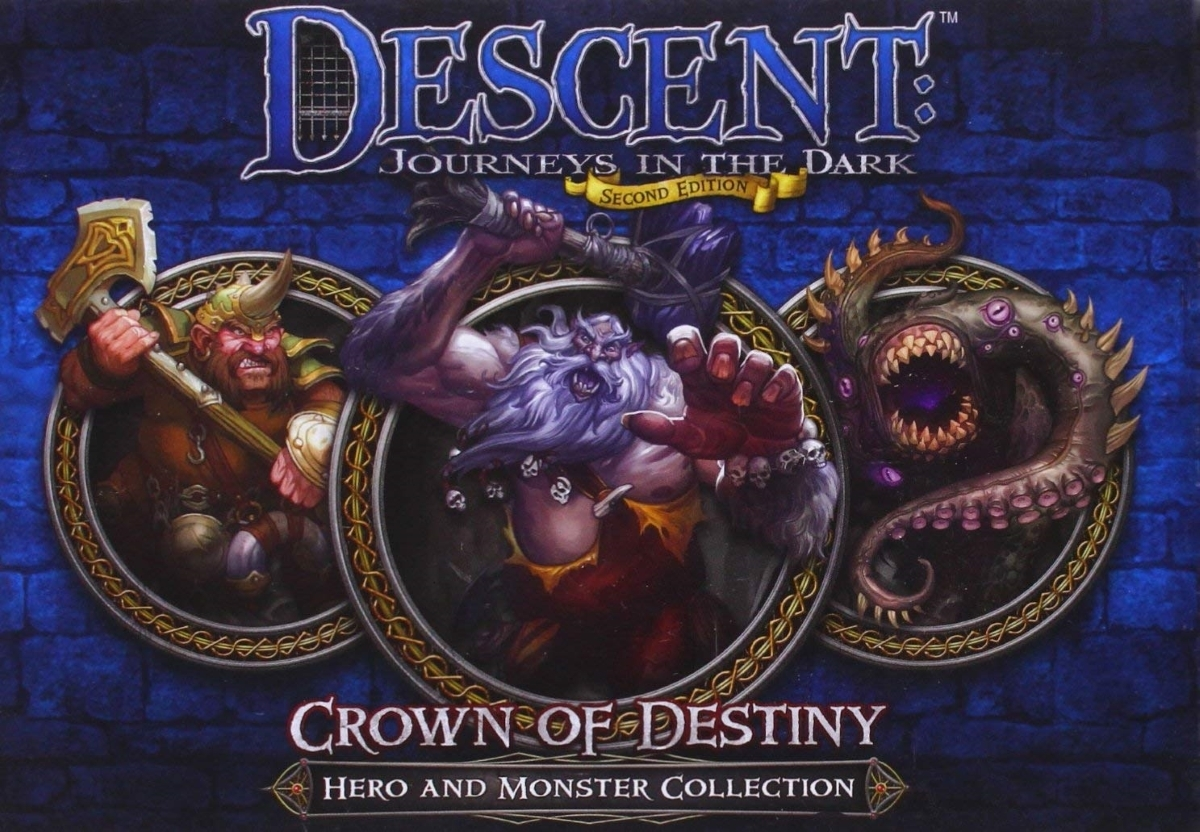 Descent journeys in the dark 2nd edition   crown of destiny hero and monster collection